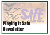 Playing It Safe Newsletter Halloween