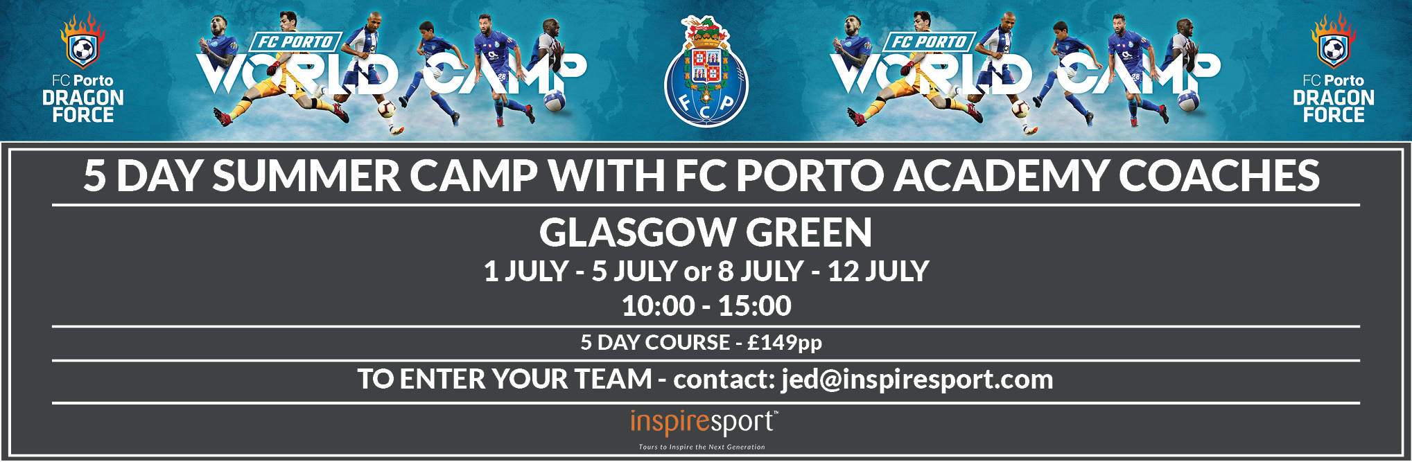 Website top banner FC Porto summer camp